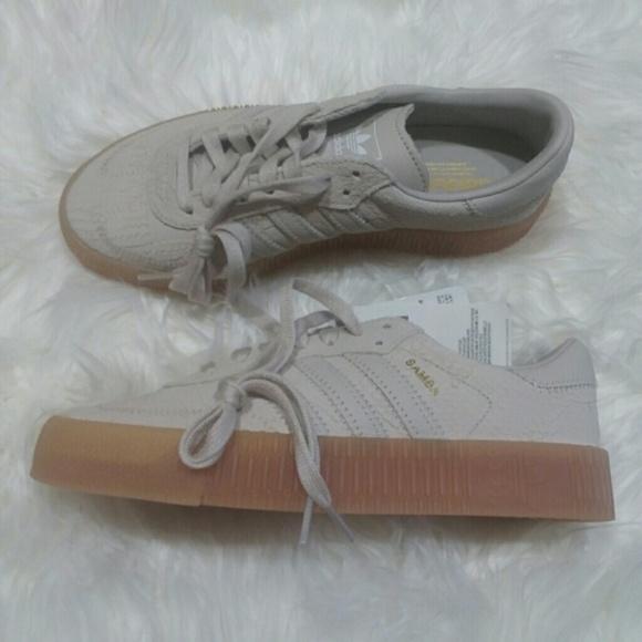 ffe5c46570eb6c New Adidas Sambarose Platform Textured Sneakers